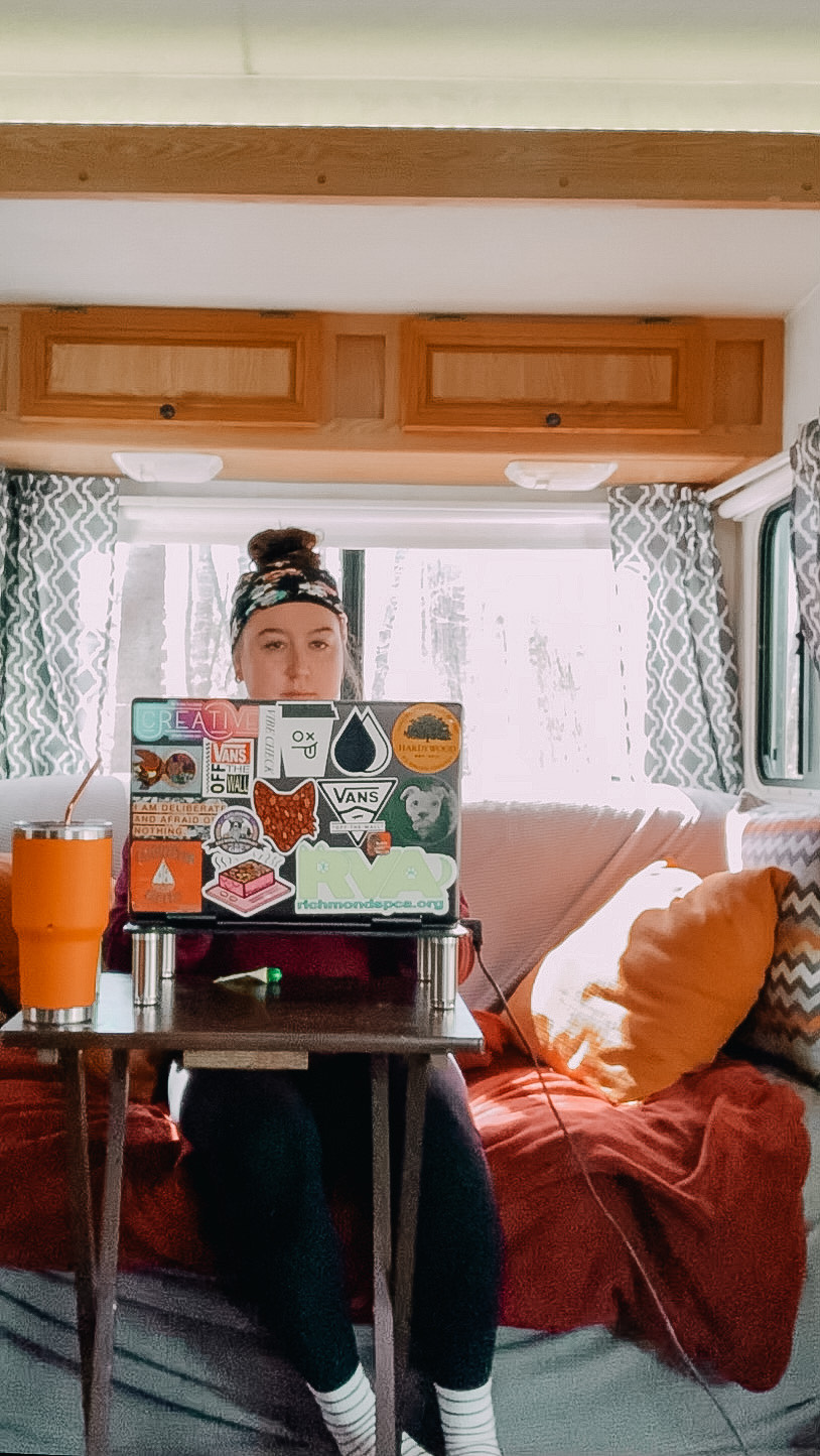 Remote freelancer works on her sustainable business